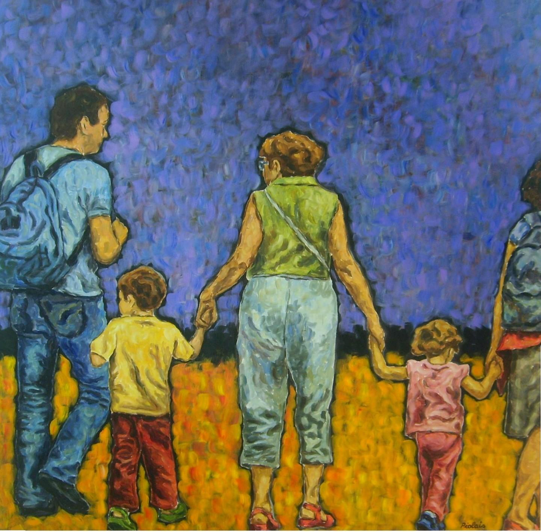 Rosemary Piolais - Piolais-je-veux-y-aller-acrylique- 150x150cm