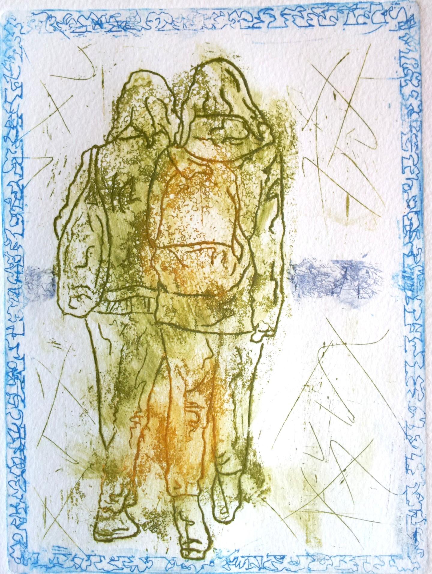 Rosemary Piolais - Piolais-les-deux-brunes-Gravure-19,7x14,5cm