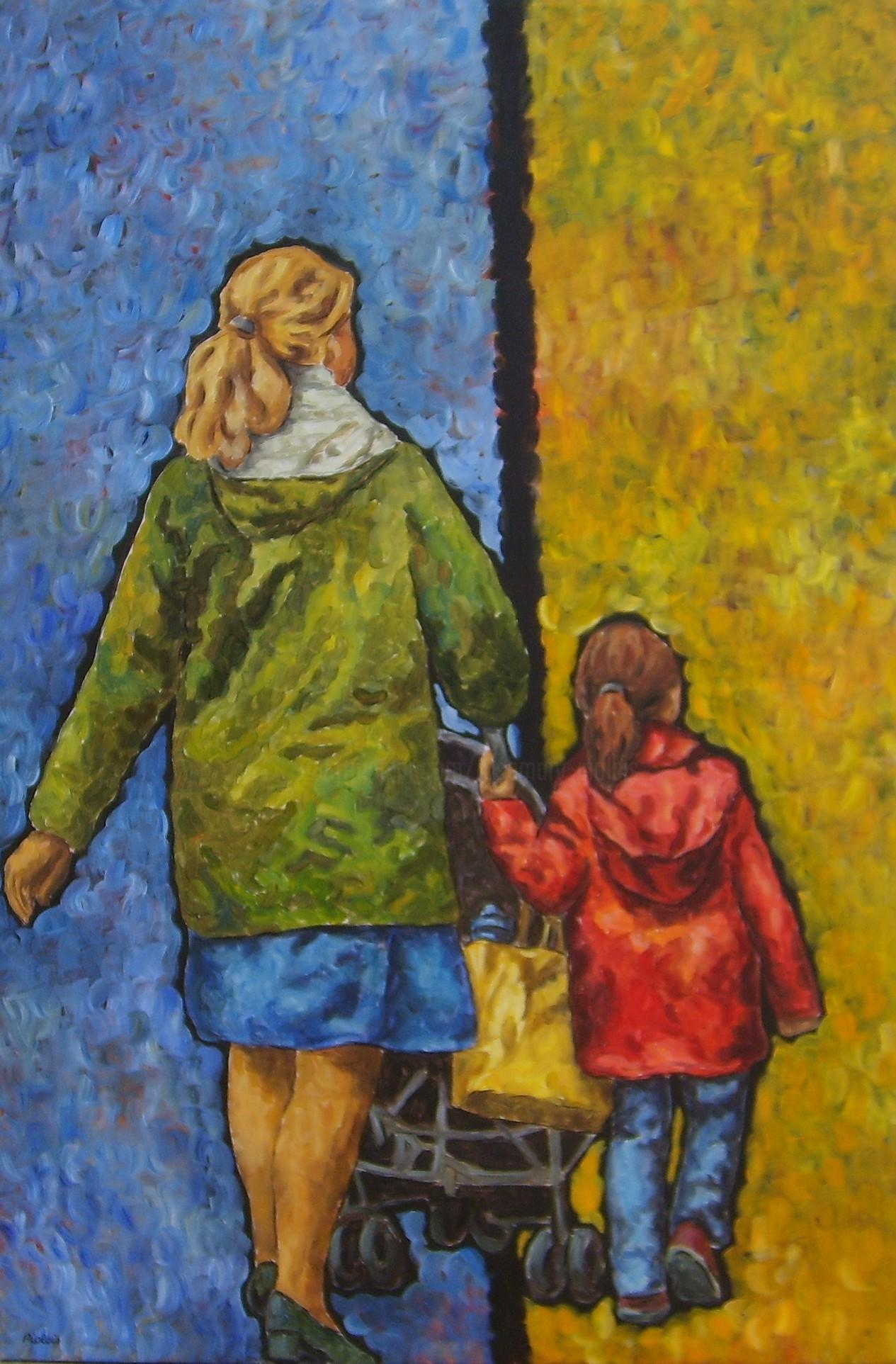 Rosemary Piolais - Piolais-sur le boulevard-Acrylique-150x100cm