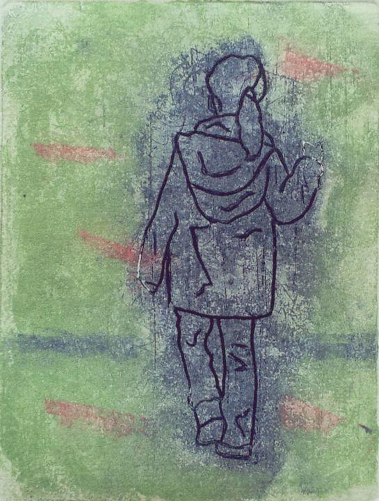 Rosemary Piolais - Piolais-donne-moi-la-main-Gravure-11,7x8,7cm