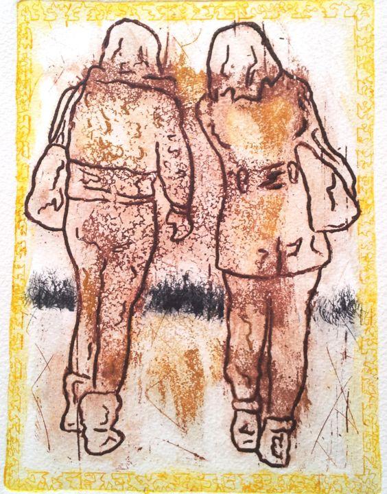 Rosemary Piolais - Piolais-les-deux-blondes-Gravure-19,7x14,5cm