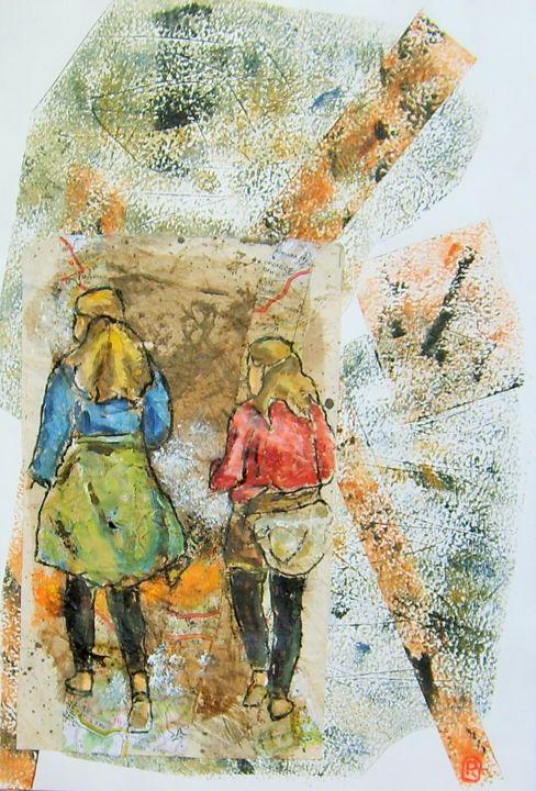 "Rosemary Piolais - ""Voyages en cartes"" n°6"